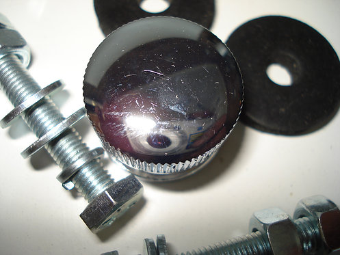 QUICK RELEASE GRILLE BUTTONS CHROME PAIR
