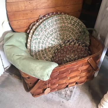 Antique Picnic Basket $45