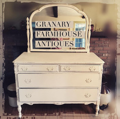 Antique Farmhouse Dresser with Attched Mirror (SOLD)