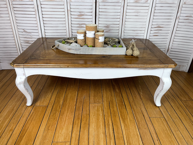 Rustic Chippy White Pine Coffee Table - $95