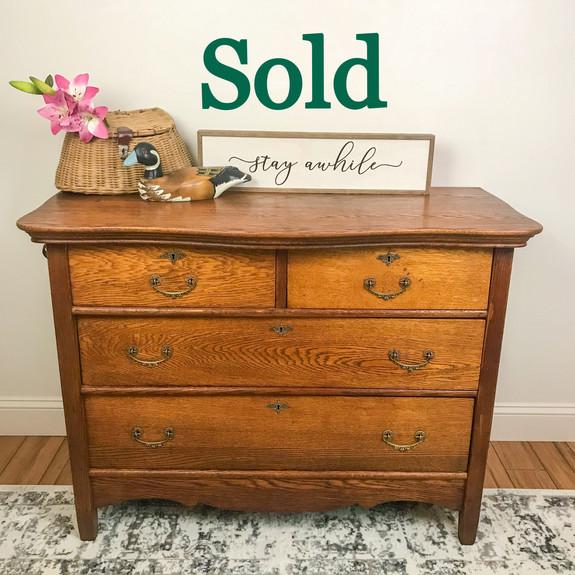 Antique Oak Dresser (SOLD)