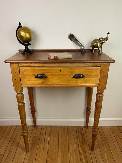 Antique Pine Schoolmaster's Desk - $325