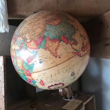 Vintage Globe Lamp $45