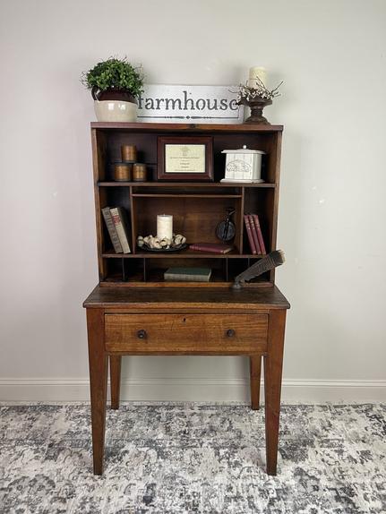 Antique Pine Secretary Desk - (SOLD)