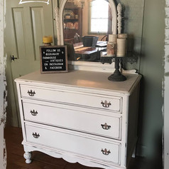 Antique Farmhouse Dresser with Mirror (SOLD)