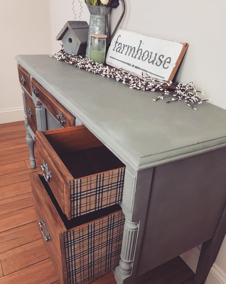 Antique Mahogany Desk in Country Gray (SOLD)