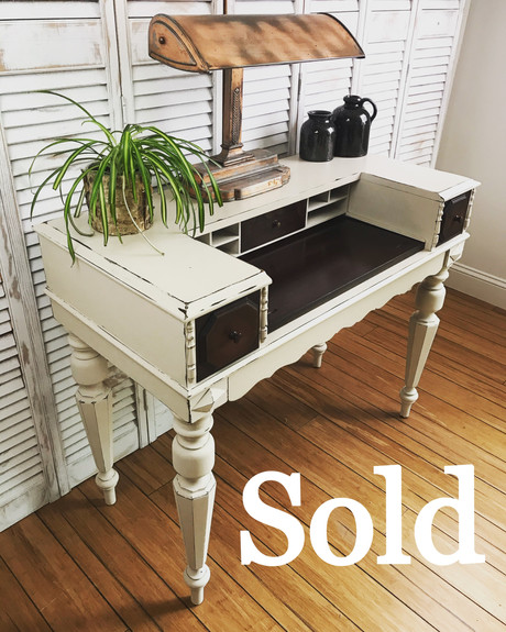 Antique Mahogany Piano Desk
