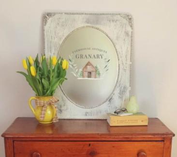Antique Mirror in Chiffon Cream $45