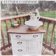 Farmhouse Painted Antique Commode (SOLD)