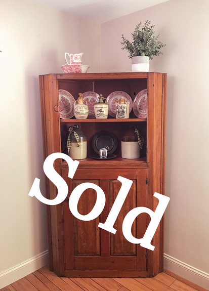 Early Pine Corner Cabinet (SOLD)