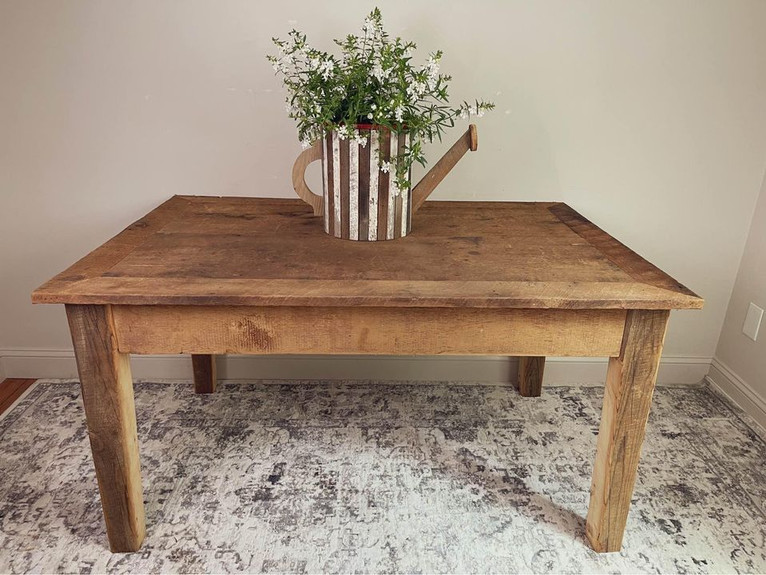 Farm Table made with Reclaimed Barn Wood (SOLD)