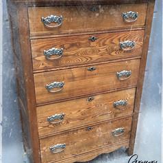 Antique Oak Bureau (SOLD)