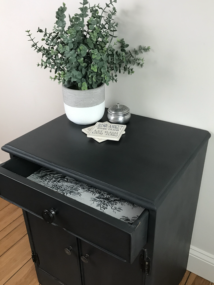 Vintage Side Table in Charcoal (SOLD)