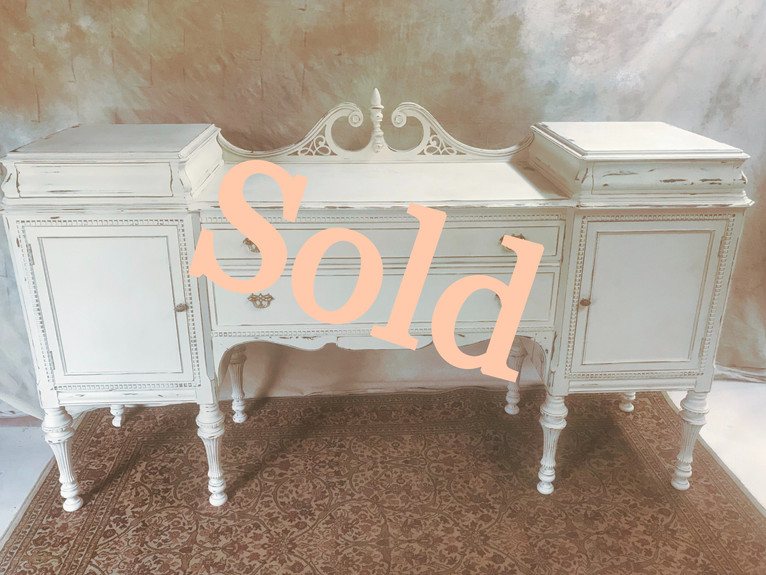 Antique Mahogany Buffet in Champagne (SOLD)