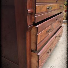 Antique Marble Top Maple Bureau (SOLD)