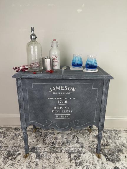 "Vintage ""Jameson"" Bar Cart in Charcoal - $100"