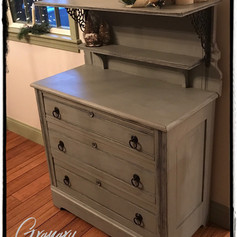 Antique Dresser with Shelf (SOLD)