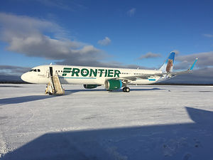 Frontier A320 delivery ferry flight