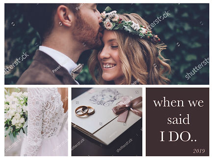 When we say, I do