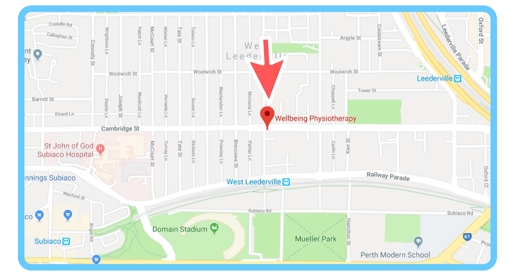 New Location Map | Wellbeing Physiotherapy Leederville
