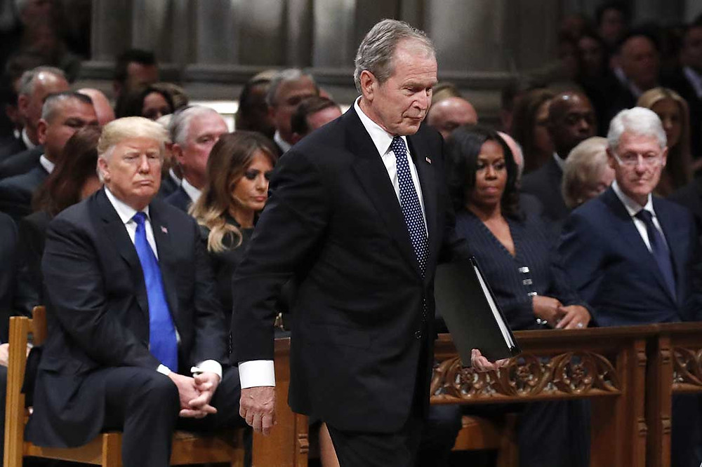 The difference between fake news by Trump and Bush
