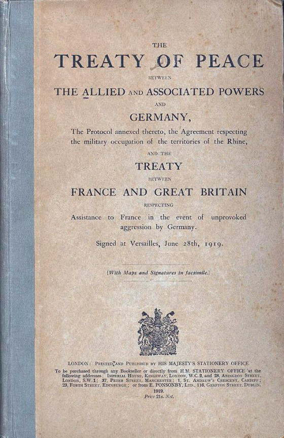 Treaty of Versailles, marking English as the language of diplomacy