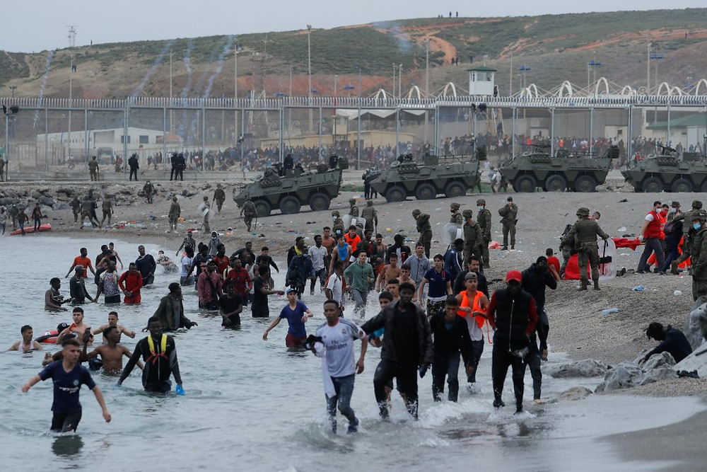 Migrant crisis at Ceuta causes tension between Spain and Morocco