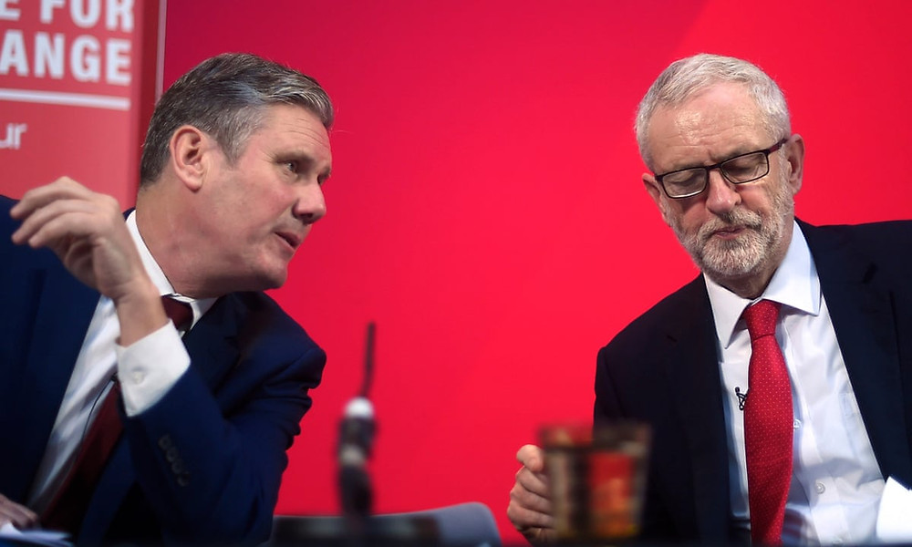 Labour leaders Jeremy Corbyn and Keir Starmer