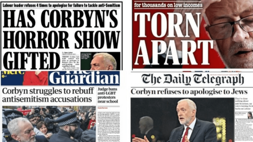 The UK media's reporting on Labour antisemitism and Jeremy Corbyn