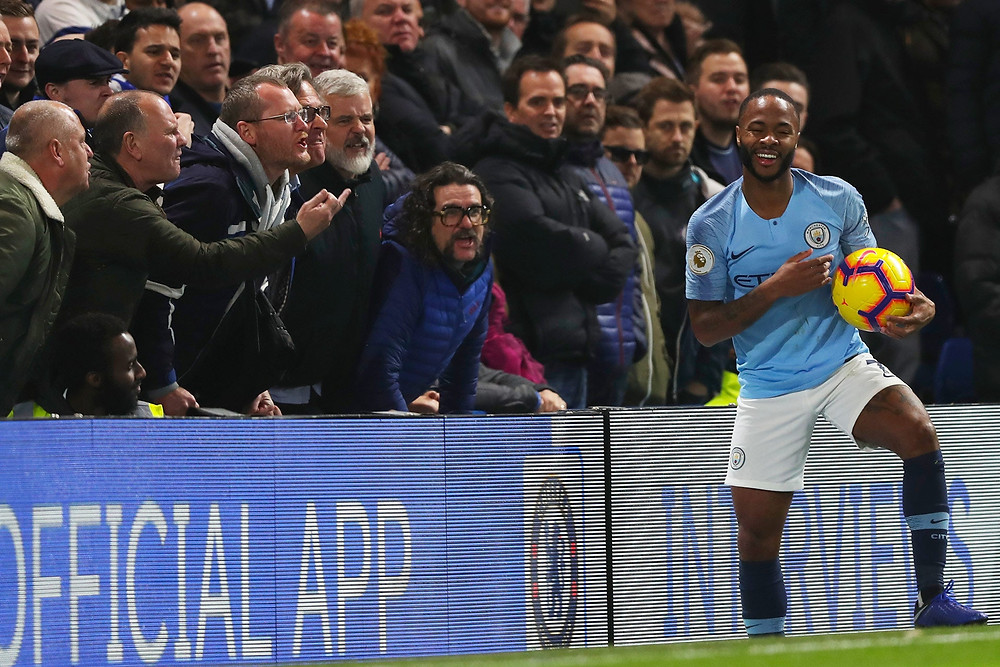 Manchester City's Raheem Sterling facing racial abuse from fan in 2018