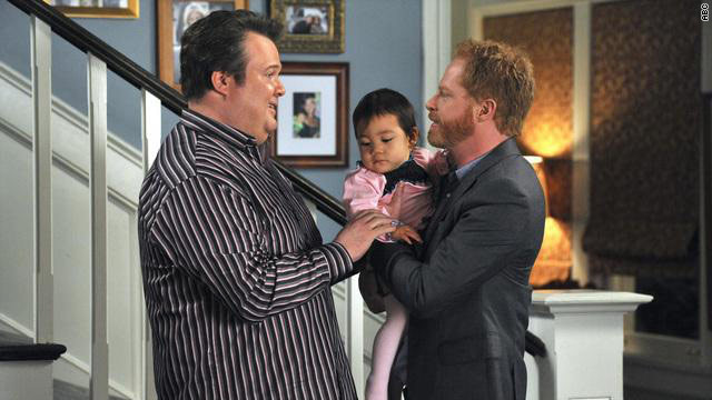 Modern Family portrayal of an openly gay couple, LGBTQ+ representation in television