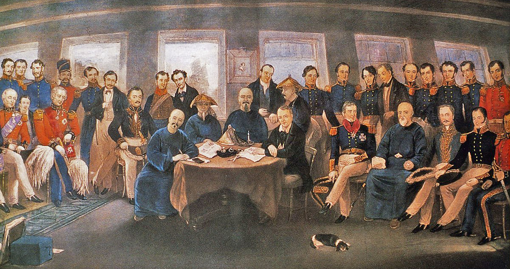The Treaty of Nanjing during the Opium Wars