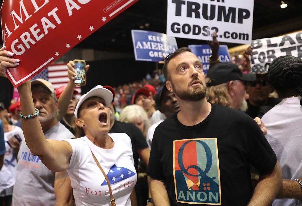 QAnon conspiracy theory and Trump