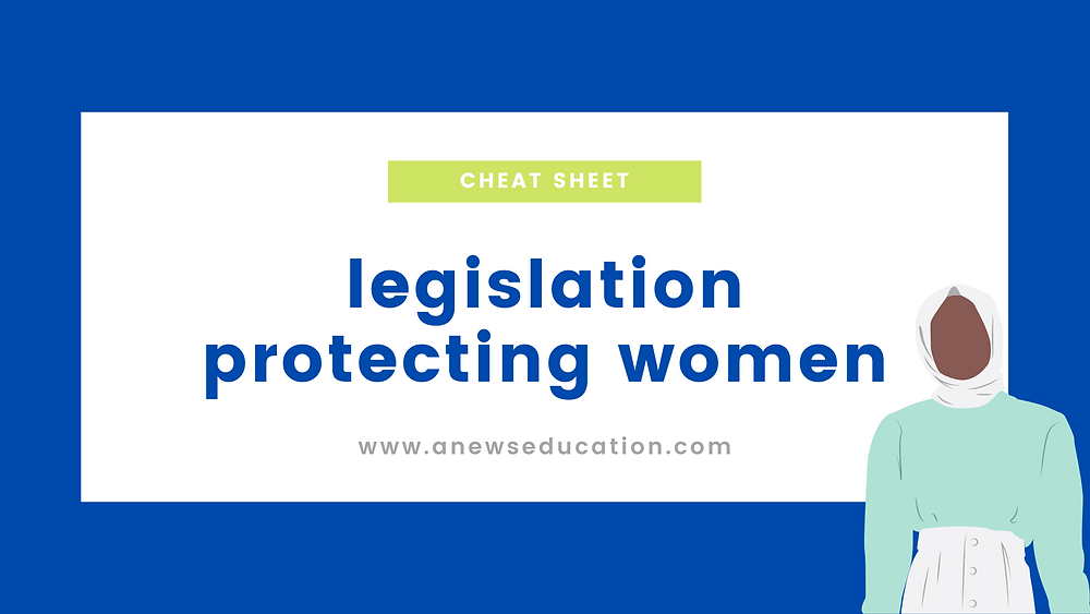 Legislation protecting women's rights