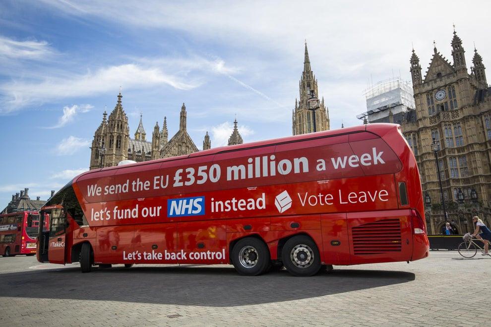 Vote Leave NHS bus