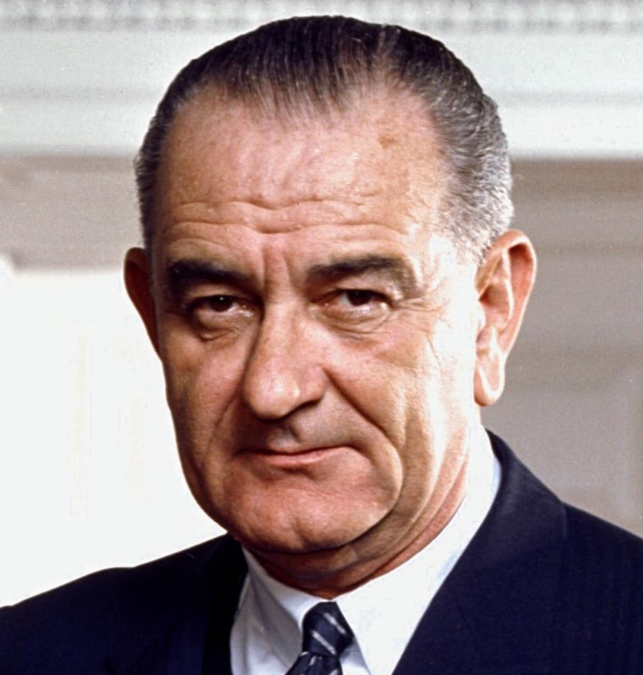 Democratic president Lyndon B. Johnson