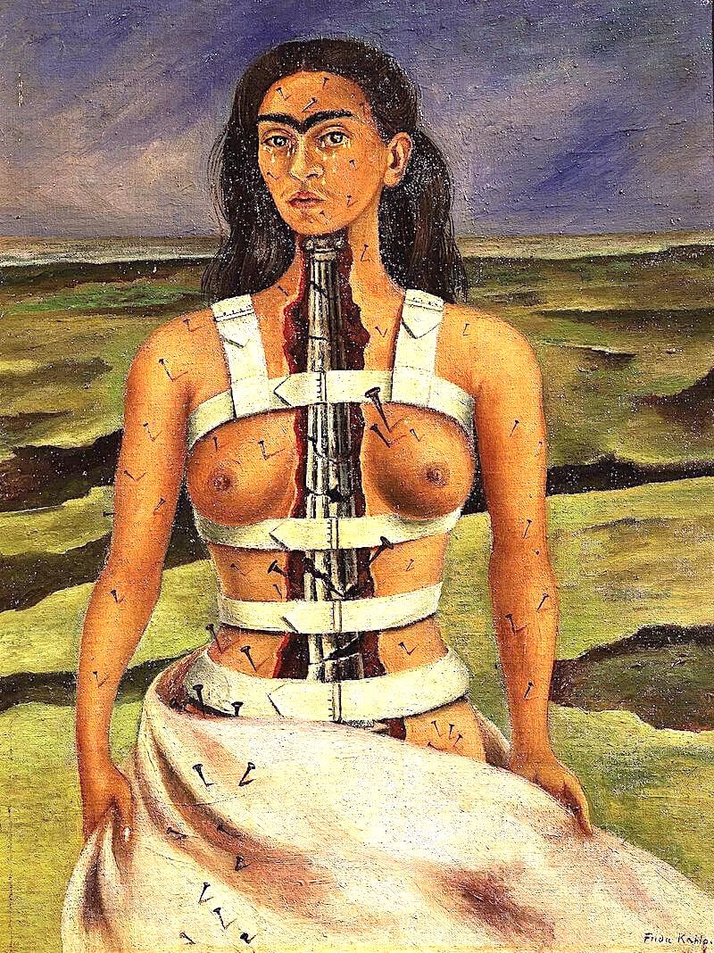 The Broken Column, 1944 by Frida Kahlo