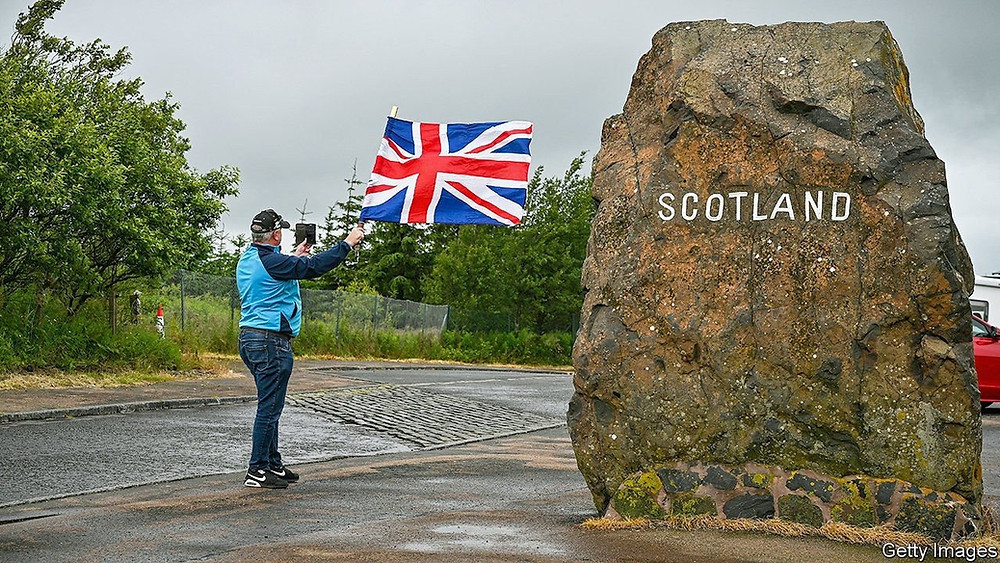 Tension at the Scottish border, the history of Scottish independence