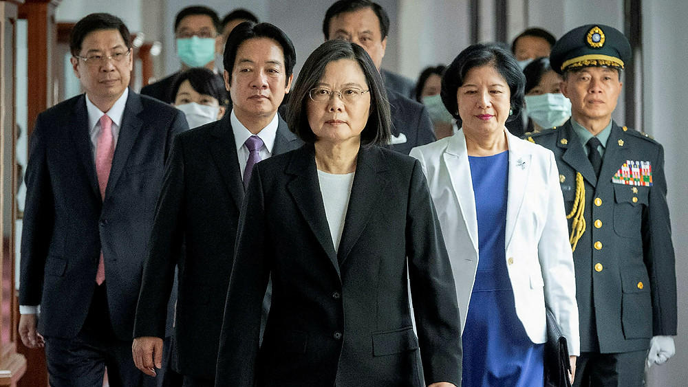 Taiwan's President Tsai Ing-wen rejects China's request for unification