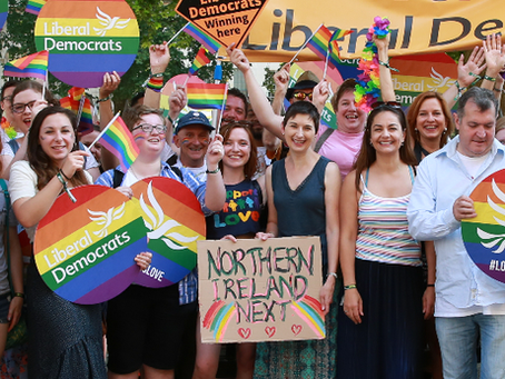 How does the Liberal Democrats Party Vote on LGBTQ+ Policies?