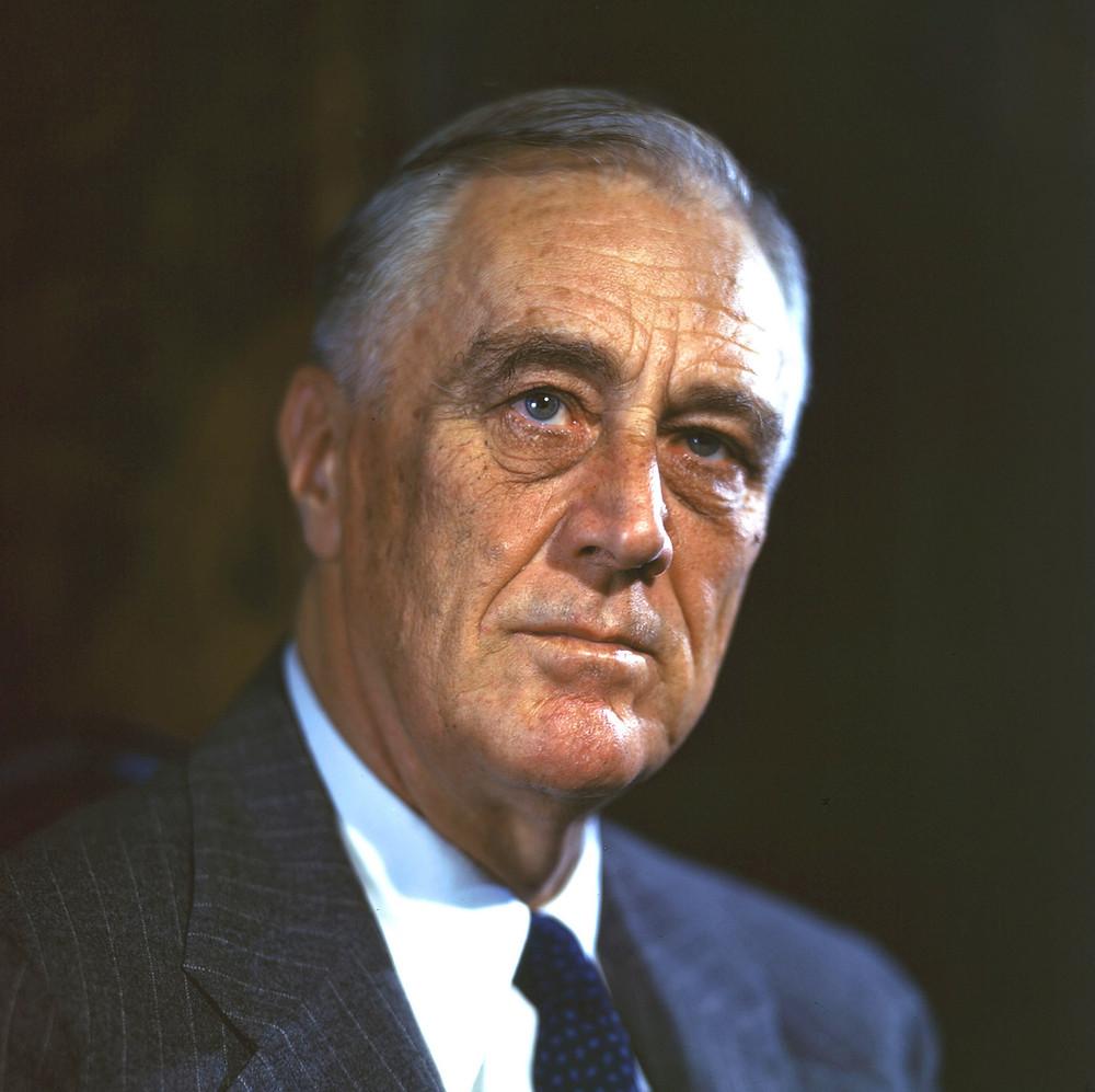 Democratic president Franklin D Roosevelt