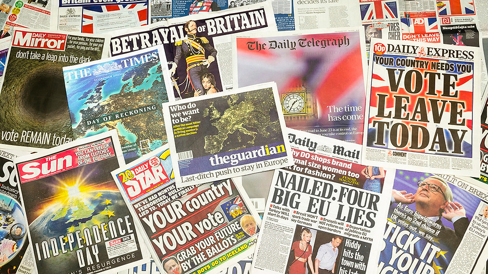 The UK media's coverage of the Brexit campaign in 2016
