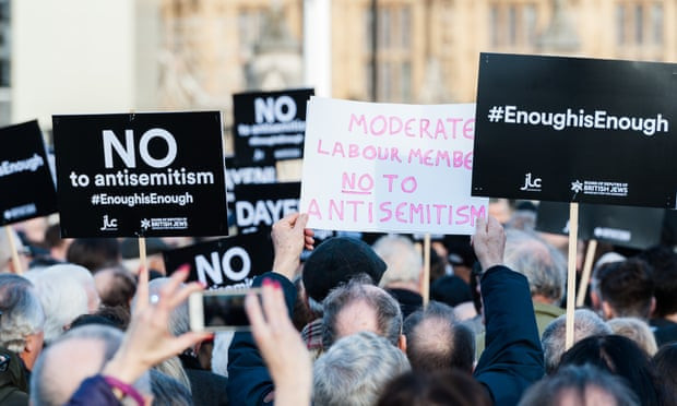 Antisemitism protests in London following report on the Labour Party