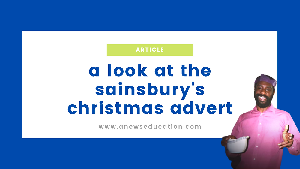 The Sainsbury's Christmas 2020 advert featuring a black British family