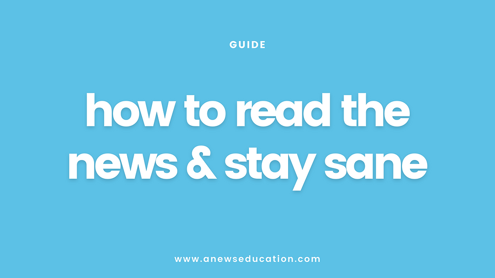 How to read the news while protecting your mental health