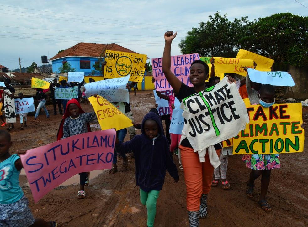 Climate change injustice activist Leah Namugerwa