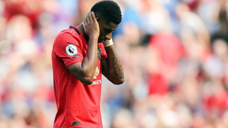 Manchester United player Marcus Rashford, target of racial abuse online