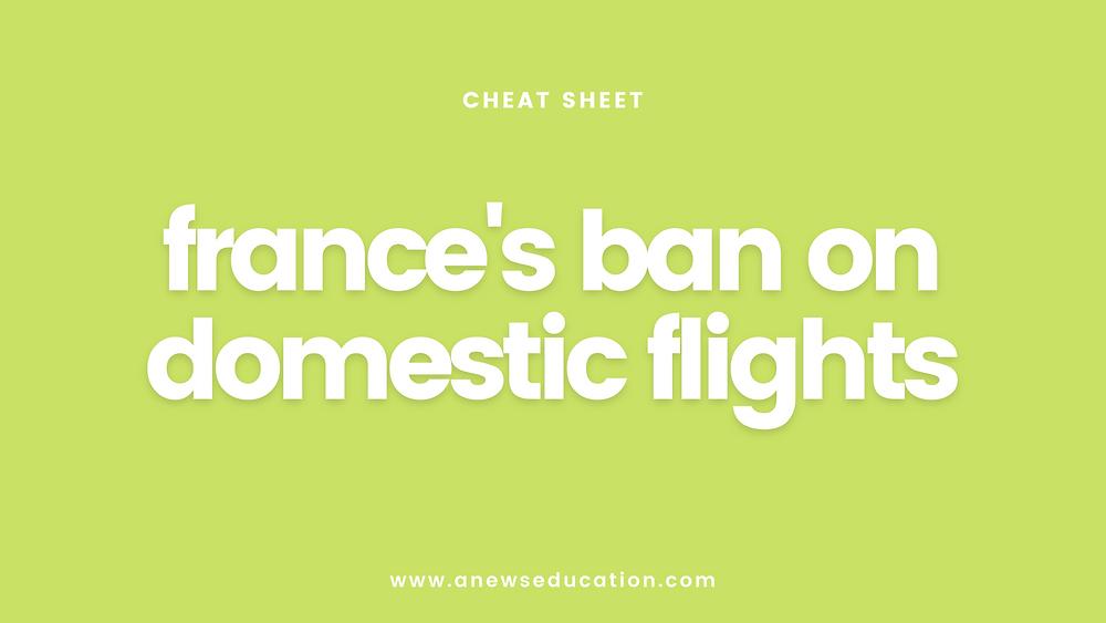 France's ban on domestic flights