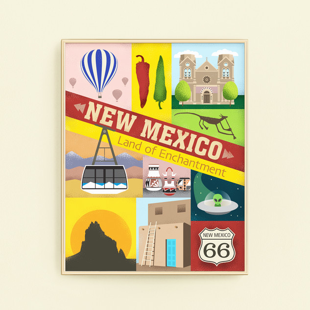 new mexico santa fe art print poster