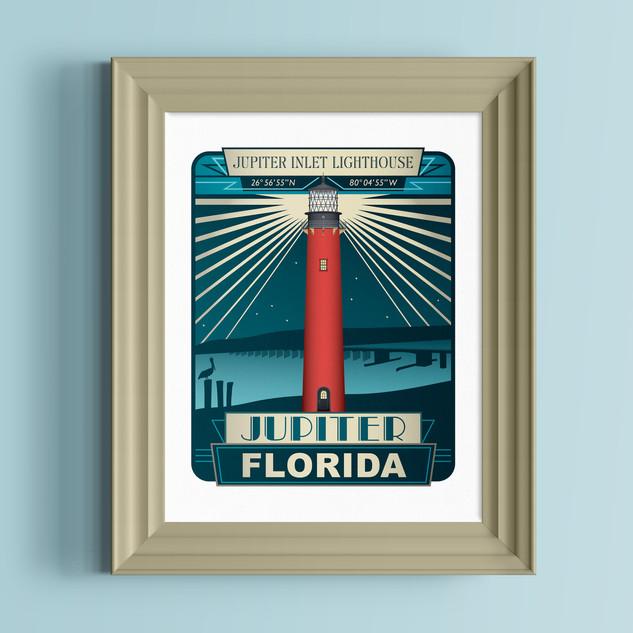 jupiter lighthouse art print